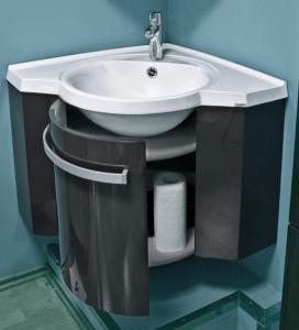 Угловая раковина с тумбой в ванную