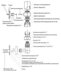 Схема установки и подключения)