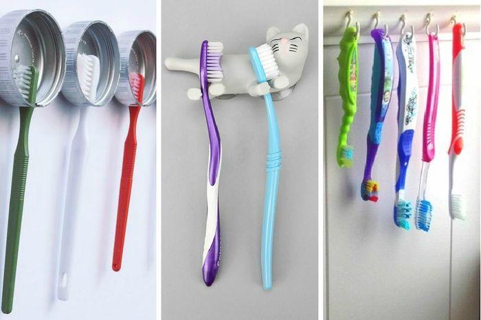 Как сделать стакан или подставку-держатель для хранения зубных щеток своими руками