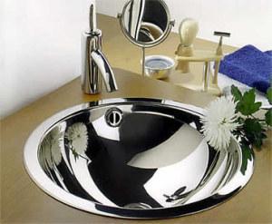 Угловая раковина из нержавеющей стали для ванной комнаты