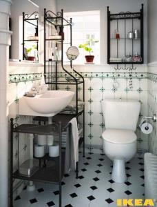Дизайн ванной комнаты с товарами из ИКЕА)
