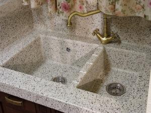 Текстура под мраморную крошку кухонной мойки