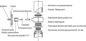 Схема монтажа ПС