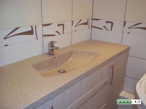 Акриловая раковина в ванной