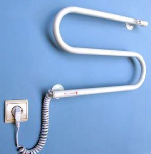 Установка электрического полотенцесушителя по сути элементарна
